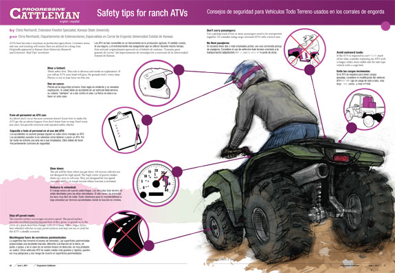 Progressive Cattleman center spread ATV safety