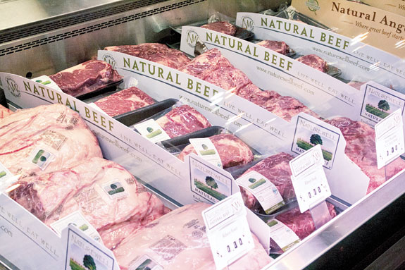 beef in grocery store