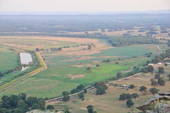 Aerial view of Winrock Farms