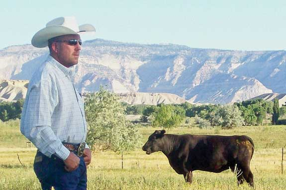 Scott Ford uses pasture weaning with a Red Angus herd.