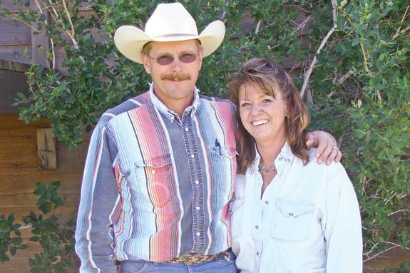 Mark and Della Ehlke of Montana, who use nose flaps on their calves