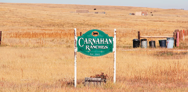 Carnahan Ranch sign