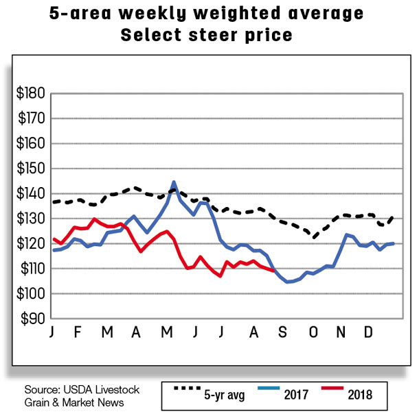 5 area Weekly weighted average