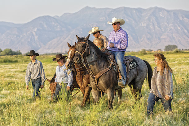 Ranching family